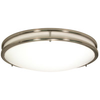 Glamour 3 Light 24 inch Brushed Nickel Flushmount Ceiling Light