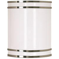 Glamour 1 Light 9 inch Brushed Nickel Vanity & Wall Wall Light