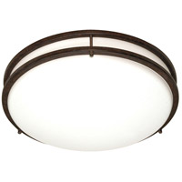 Glamour 3 Light 17 inch Old Bronze Flushmount Ceiling Light