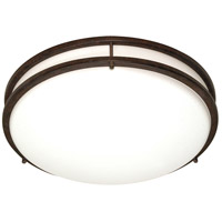 Glamour 3 Light 24 inch Old Bronze Flushmount Ceiling Light