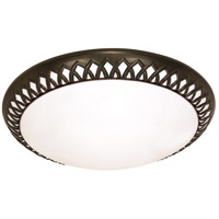 Rustica 3 Light 17 inch Old Bronze Flushmount Ceiling Light