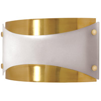 Nuvo Lighting Signature 1 Light Vanity & Wall in Brushed Brass 60/939