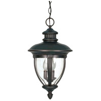 Nuvo Lighting Galeon 3 Light Outdoor Hanging Lantern in Old Penny Bronze 60/958 photo thumbnail