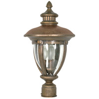 Nuvo Lighting Galeon 3 Light Outdoor Post Lantern in Platinum Gold 60/961 photo thumbnail