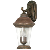 Nuvo Lighting Clarion 3 Light Outdoor Wall Lantern in Platinum Gold 60/967 photo thumbnail