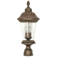 Nuvo Lighting Clarion 3 Light Outdoor Post Lantern in Platinum Gold 60/971 photo thumbnail