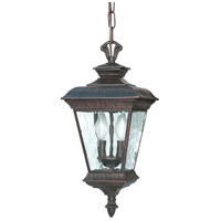 Nuvo Lighting Charter 2 Light Outdoor Hanging Lantern in Old Penny Bronze 60/973 photo thumbnail