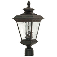 Charter 2 Light 20 inch Old Penny Bronze Outdoor Post Lantern