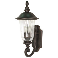 Parisian 2 Light 22 inch Old Penny Bronze Outdoor Wall Lantern