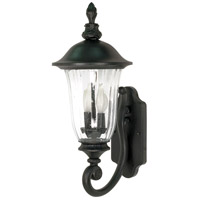 Nuvo Lighting Parisian 2 Light Outdoor Wall Lantern in Textured Black 60/976