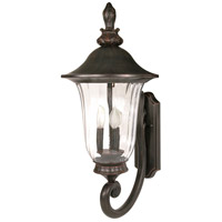 Nuvo Lighting Parisian 3 Light Outdoor Wall Lantern in Old Penny Bronze 60/977