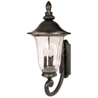 Parisian 3 Light 29 inch Textured Black Outdoor Wall Lantern