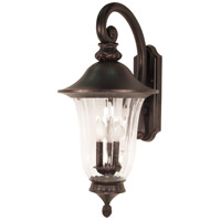 Nuvo Lighting Parisian 3 Light Outdoor Wall Lantern in Old Penny Bronze 60/979