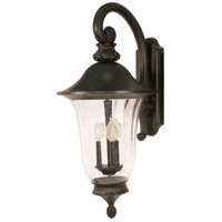 Nuvo Lighting Parisian 3 Light Outdoor Wall Lantern in Textured Black 60/980