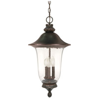Parisian 3 Light 13 inch Old Penny Bronze Outdoor Hanging Lantern