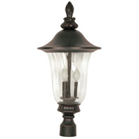 Parisian 3 Light 27 inch Old Penny Bronze Outdoor Post Lantern