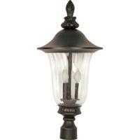 Nuvo Lighting Parisian 3 Light Outdoor Post Lantern in Old Penny Bronze 60/983 photo thumbnail