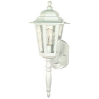 Nuvo Lighting Cornerstone 1 Light Outdoor Wall Lantern in White 60/985