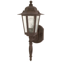 Nuvo Lighting Cornerstone 1 Light Outdoor Wall Lantern in Old Bronze 60/986