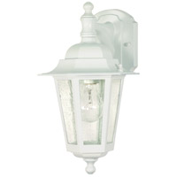 Nuvo Lighting Cornerstone 1 Light Outdoor Wall Lantern in White 60/988