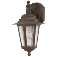Nuvo Lighting Cornerstone 1 Light Outdoor Wall Lantern in Old Bronze 60/989