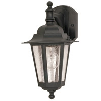Nuvo Lighting Cornerstone 1 Light Outdoor Wall Lantern in Textured Black 60/990
