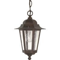 Nuvo 60/992 Cornerstone 1 Light 7 inch Old Bronze Outdoor Hanging Lantern