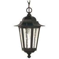 Nuvo Lighting Cornerstone 1 Light Outdoor Hanging Lantern in Textured Black 60/993