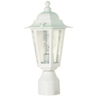 Nuvo Lighting Cornerstone 1 Light Outdoor Post Lantern in White 60/994