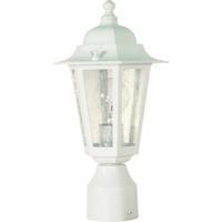 Nuvo 60/994 Cornerstone 1 Light 14 inch White Outdoor Post Lantern