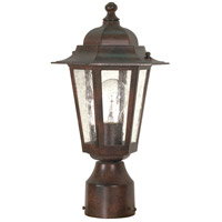 Nuvo Lighting Cornerstone 1 Light Outdoor Post Lantern in Old Bronze 60/995