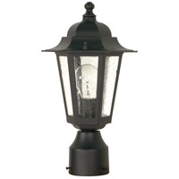 Nuvo Lighting Cornerstone 1 Light Outdoor Post Lantern in Textured Black 60/996