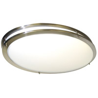 Glamour 2 Light 18 inch Brushed Nickel Flushmount Ceiling Light