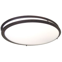 Glamour 2 Light 18 inch Old Bronze Flushmount Ceiling Light
