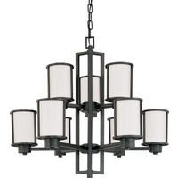 Odeon 9 Light 30 inch Aged Bronze Chandelier Ceiling Light