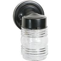 Nuvo 62/1007 Signature 1 Light 9 inch Black Outdoor Mason Jar Wall Light