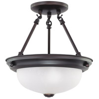 Nuvo 62/1016 Signature 2 Light 11 inch Mahogany Bronze Semi Flush Mount Ceiling Light