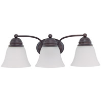 Empire 3 Light 21 inch Mahogany Bronze Vanity Light Wall Light