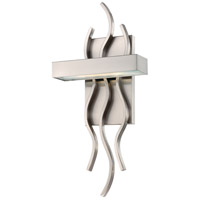 Nuvo 62/104 Wave LED 8 inch Brushed Nickel Wall Sconce Wall Light