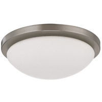 Nuvo 62/1042 Button Round 1 Light 11 inch Brushed Nickel Flush Mount Ceiling Light