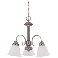 Ballerina 3 Light 20 inch Brushed Nickel Chandelier Ceiling Light