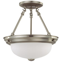 Nuvo 62/1116 Signature 2 Light 11 inch Brushed Nickel Semi Flush Mount Ceiling Light
