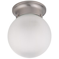 Signature 1 Light 6 inch Brushed Nickel Flush Mount Ceiling Light