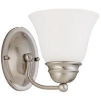 Empire 1 Light 6 inch Brushed Nickel Vanity Light Wall Light