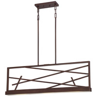Nuvo Lighting Stix 3 Light Pendant in Patina Bronze 62/113