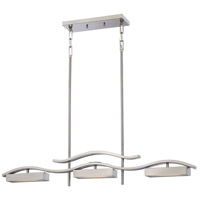 Nuvo Lighting Wave 3 Light Island Pendant in Brushed Nickel 62/115