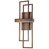 Nuvo Lighting Frame 1 Light Wall Sconce in Hazel Bronze 62/125