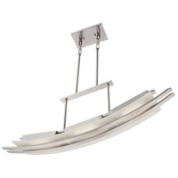 Nuvo Lighting Trax 3 Light Island Pendant in Brushed Nickel 62/133