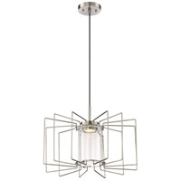 Nuvo 62/1351 Wired LED 20 inch Brushed Nickel Pendant Ceiling Light