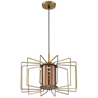 Nuvo 62/1352 Wired LED 20 inch Vintage Brass Pendant Ceiling Light